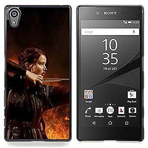 SKCASE Center / Funda Carcasa protectora - Hambriento Juego Archery Girl;;;;;;;; - Sony Xperia Z5 5.2 Inch (Not for Z5 Premium 5.5 Inch)