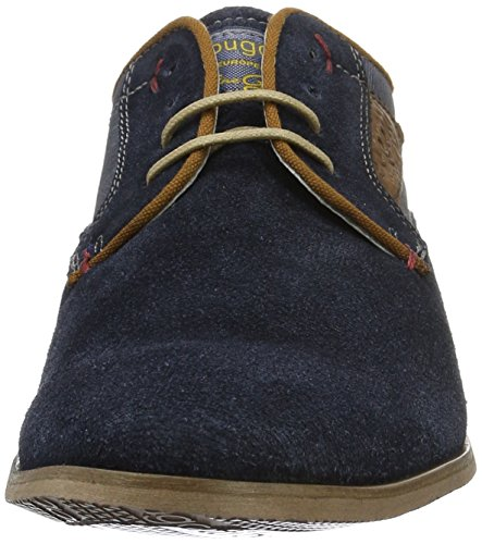 Bugatti 311151021400, Zapatos de Cordones Derby para Hombre Azul (Dark Blue 4100)