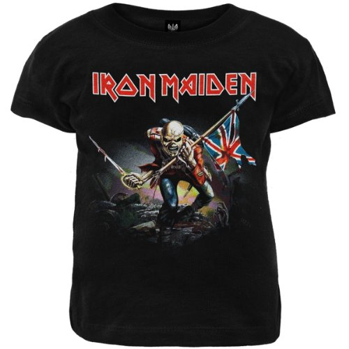 ill Rock Merch Iron Maiden - The Trooper Toddler T-Shirt (3T) Black