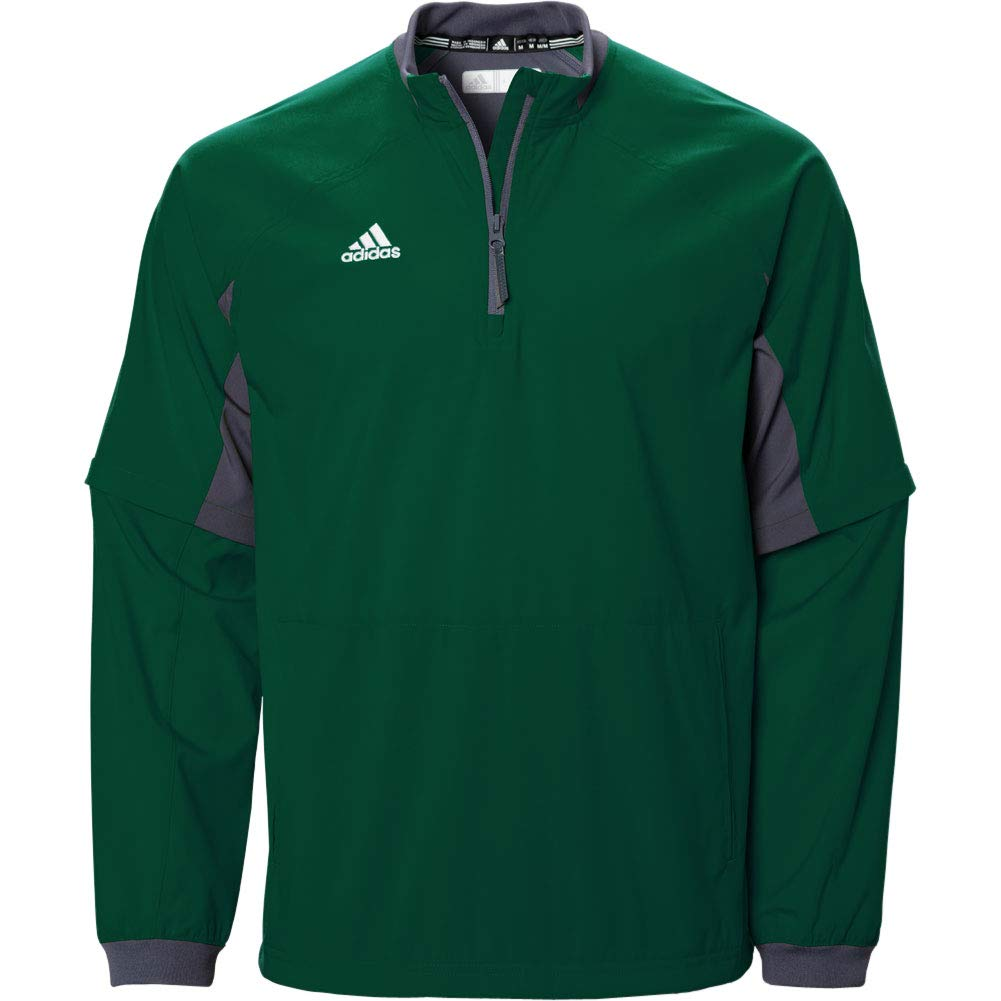 adidas Mens Climalite Fielders Choice Convertible 1/4-Zip Jacket Dark Green. by adidas