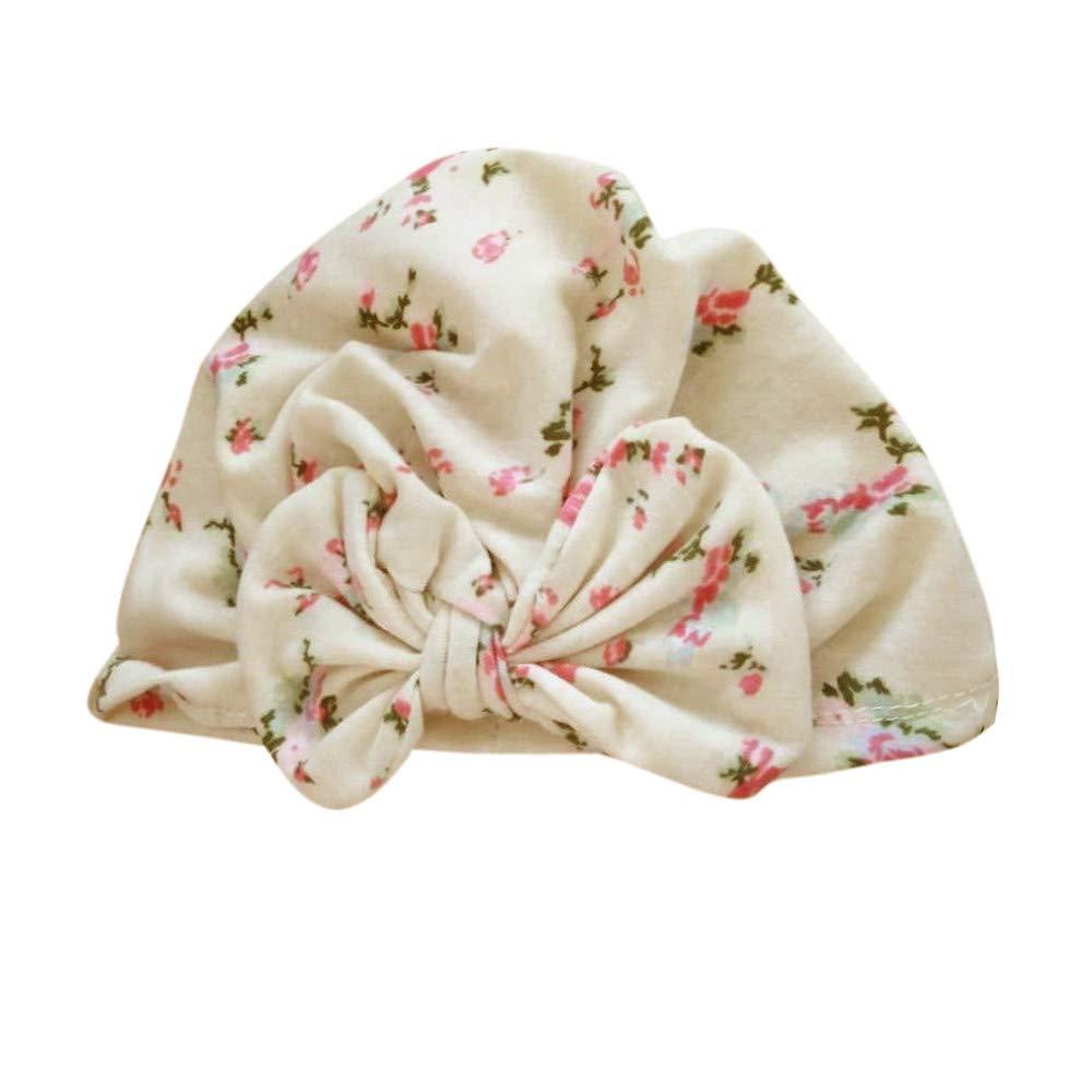 ❤️ Mealeaf ❤️ Cute Newborn Toddler Kids Baby Boy Girl Turban Cotton Beanie Hat Winter Warm Cap(B,)