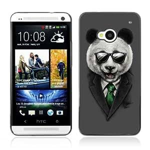 YOYOSHOP [Classy Panda & Sunglasses Illustration] HTC One M7 Case