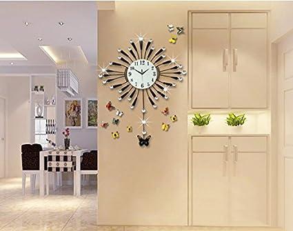 Moda reloj de cuarzo reloj de pared reloj reloj grande Creative Salon moderno decoración Mute Reloj