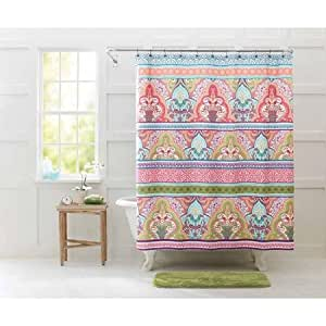 Better homes and gardens jeweled damask shower - Better homes and gardens shower curtains ...