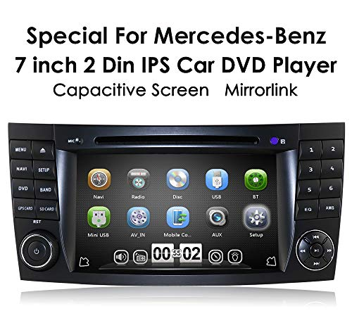 (hizpo Audio Systems Car GPS Navigation & DVD Player 7 Inch Monitor, Radio/MP3/CD/USB/SD, Aux-in, AM/FM Radio Receiver Fit for Mercedes-Benz E-Class W211 G-Class W463 CLS-Class W219)