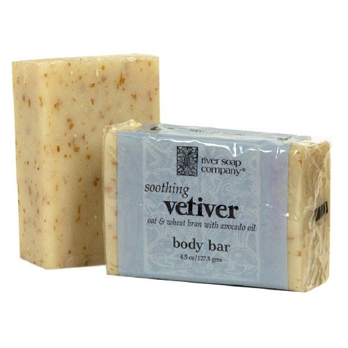 Soothing Vetiver River Soap Company All Vegetable Body Bar Soap 4.5 oz (Pack of (Guerlain Soap)
