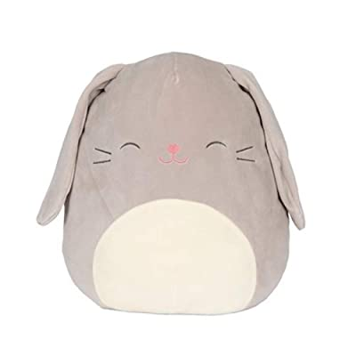 "Squishmallow Easter Squad Edition 16"" Plush Grey Gray Bunny Rabbit Blake: Toys & Games"