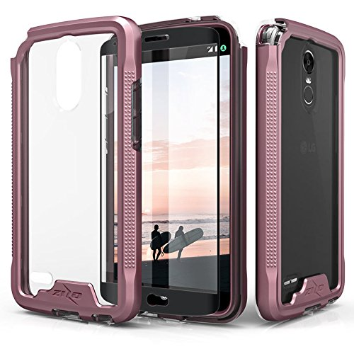 Zizo ION Series compatible with LG Stylo 3 Case Military Grade Drop Tested with Tempered Glass Screen Protector LG Stylo 3 Plus ROSE GOLD CLEAR by Zizo