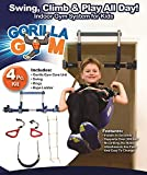 Gorilla Gym Kids with Indoor Swing, Plastic Rings, and Climbing Ladder