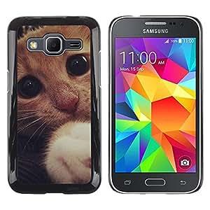 Paccase / Dura PC Caso Funda Carcasa de Protección para - Cute Sad Frightened Kitten Cat Paw Eyes - Samsung Galaxy Core Prime SM-G360