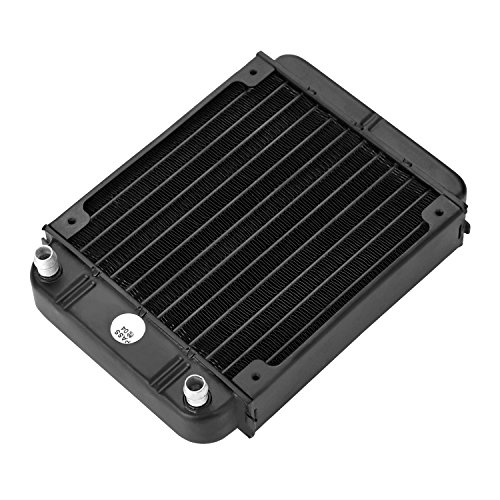 AGPtek® 12 Pipe Aluminum Heat Exchanger Radiator for PC CPU CO2 Laser Water Cool System ()