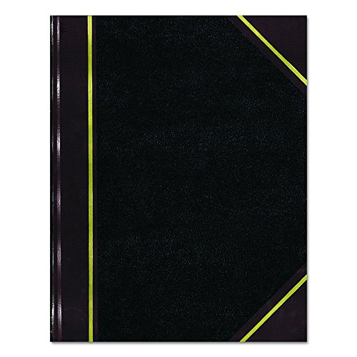 NATIONAL Texhide Series Record Book, Black, 10.375″ x 8.375″, 300 Pages (56231)