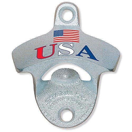 USA Flag - Wall Mount Bottle Opener, Starr, Metal