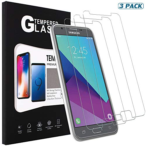 [3 Pack] SENON Compatible with Samsung Galaxy J7 V J7V 2nd Gen/Generation Screen Protector,Tempered Glass,Crystal Clear,Anti-Bubble,Anti-Fingerprint,Lifetime Replacements Warranty (Gen 2nd Screen Nano)