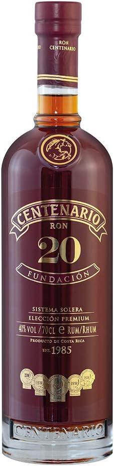 Ron - Centenario 20 Años Fundacion 70 cl: Amazon.es ...