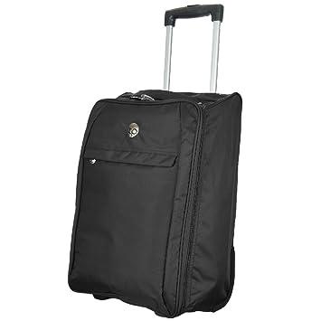 Carrito de equipaje de mano compañía aérea cabina vuelo cremallera bolsa con ruedas de maleta de transporte nuevo: Amazon.es: Hogar