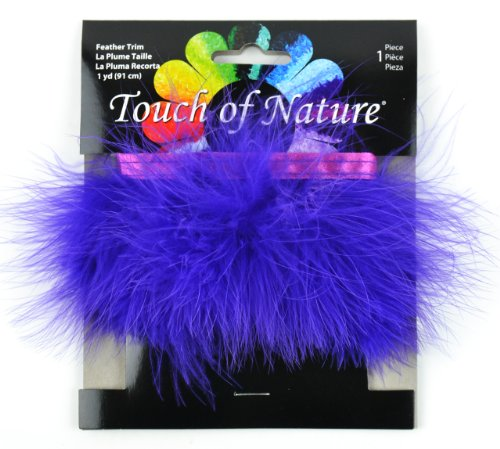 (Touch of Nature Fluffy Feather Trim, 2.5 by 36-Inch, Purple)