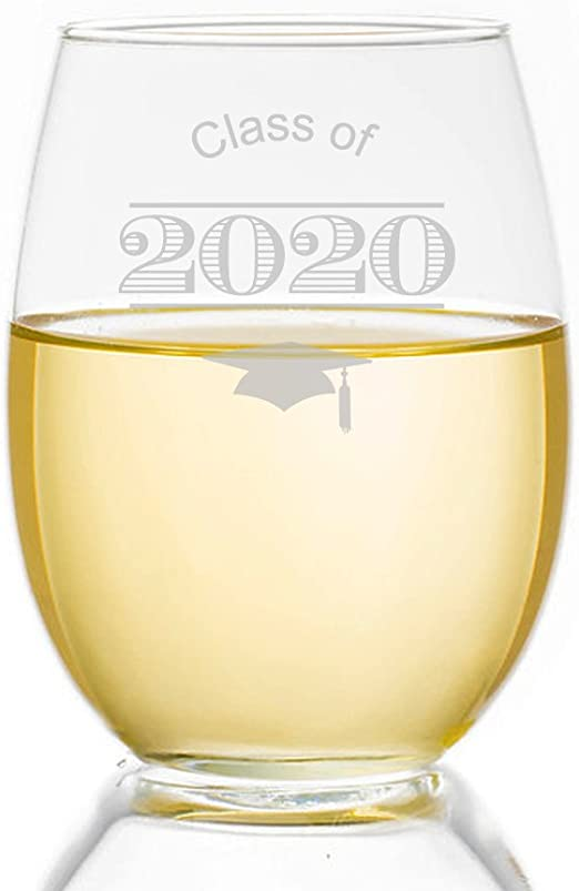 17 oz Back to Teaching 2020 One Where We Were Masked Stemless Wine Glass Essential