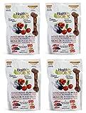 Omega Paw Health Bone Medium Berry Dog Treats, 14-ounce Bags – 4 Bags