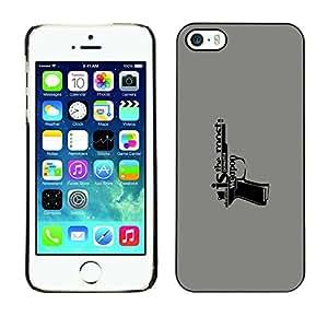 Cubierta de la caja de protección la piel dura para el Apple iPhone 5 / 5S - Education Is A Weapon Message