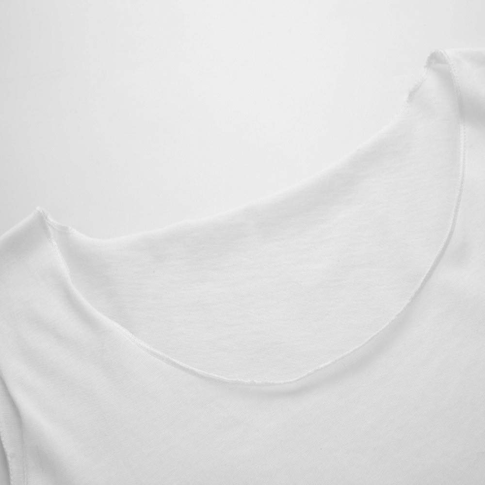 NUWFOR Womens Sleeveless Sexy Slim Solid Casual Vest Short Letter Tops Blouse(White, US Bust:30.6'') by NUWFOR (Image #4)