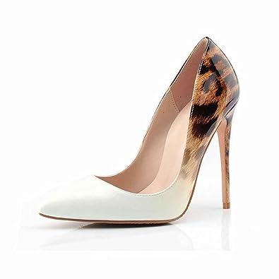 958351becdc LIURUIJIA Women Fashion Pointed Toe Pumps High Heel Stilettos Sexy Slip on  Dress Shoes Size 4