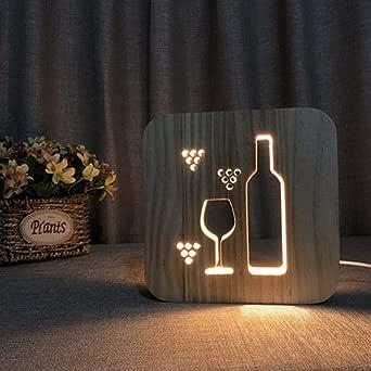 مصباح ليلي اضاءة ال اي دي شكل كأس عصير