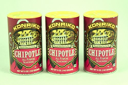 Konriko NO MSG Chipotle All Purpose Seasoning 5oz Canister (Pack of 3) by Konriko