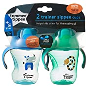 Tommee Tippee Trainer Sippee Cup 2 pack blue/green NEW IMPROVED