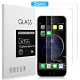 #5: [2 Pack] iPhone 6/ 6S Screen Protector, Basse Premium Tempered Glass with 9H Hardness High Definition Anti-Scratch Screen Protector for iPhone 6, iPhone 6S [4.7 inch]