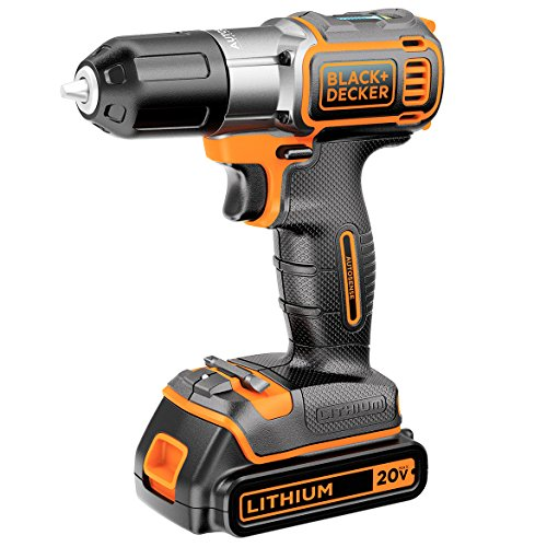 BDKBDCDE120C - BLACK amp; DECKER BDCDE120C 20-Volt MAX Lithium Drill Driver with AutoSense (TM) Technology