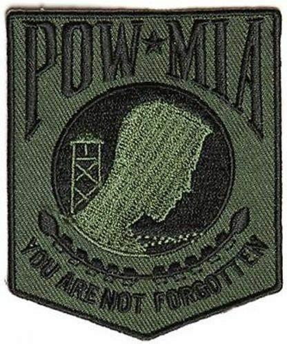 POW MIA Subdued Green Vet Military Army Marines USMC War Biker Patch MC PAT-3788
