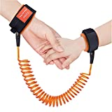 Austor Baby Child Anti Lost Wrist Link Safety Harness Strap Rope Leash Walking Hand Belt (Orange)