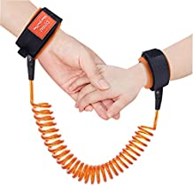 Austor Baby Child Anti Lost Wrist Link Safety Harness Strap Rope Leash Walking Hand Belt (Orange)