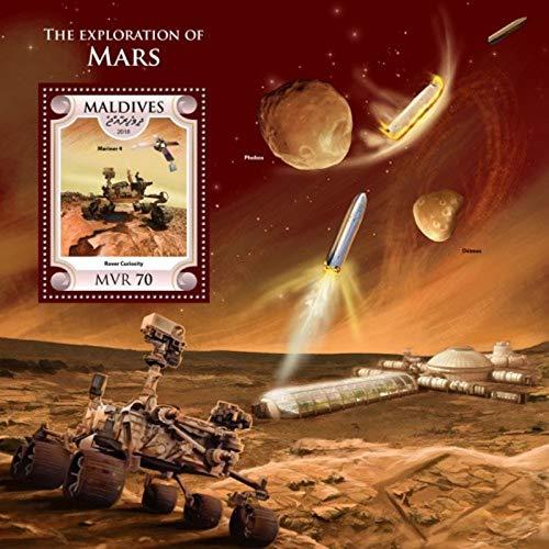 Maldives Sheet - Maldives - 2018 Bradbury Mars Exploration - Souvenir Sheet - MLD18607b