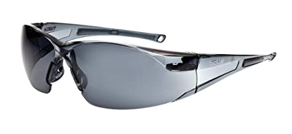 ffb5510d9de Bollé Safety 253-RH-40071 Rush Safety Eyewear with Rimless Frame and ...