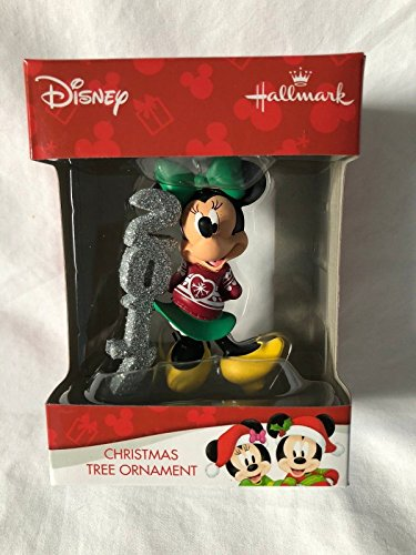 Disney Christmas Tree (Disney Minnie Mouse 2017 Dated Christmas Tree Ornament Red Holiday Sweater)