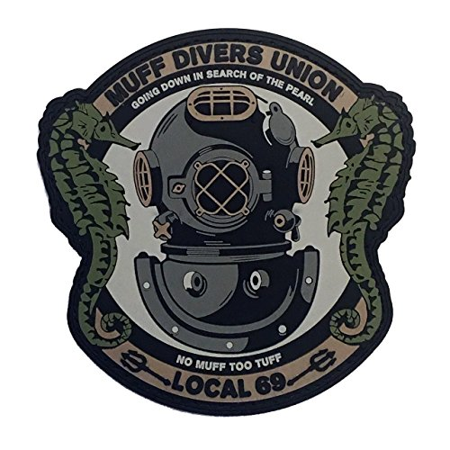 - Muff Diver's Union PVC Morale Patch
