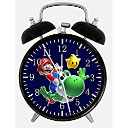 New Super Mario Yoshi Alarm Desk Clock 3.75 Room Decor W15 Will Be a Nice Gift