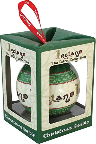 Celtic Collection Christmas Bauble With Irish Blessing ()