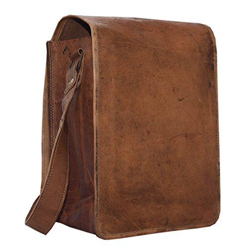Brown Leather Denim - 11