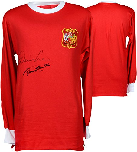 Denis Law & Sir Bobby Charlton Manchester United Autographed 1963 Cup Final Jersey - ICONS - Fanatics Authentic Certified