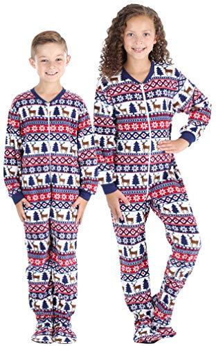 SleepytimePjs Baby, Toddler, and Kids' Fleece Footed Onesie Pajamas, Toddler Deer Fairisle - ()
