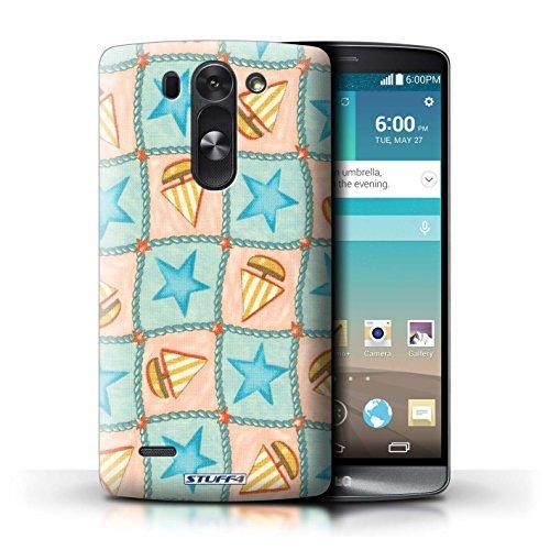 Kobalt® Imprimé Etui / Coque pour LG G3 S (Mini)/D722 / Turquoise/Orange conception / Série Bateaux étoiles