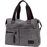 Lonson Canvas Shoulder Bag Hobo Daily Purse Handle Shoulder Tote Shopper Handbag