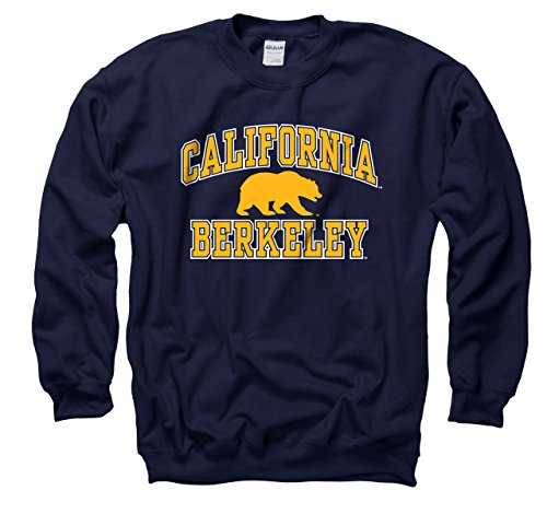 Campus Colors Cal Golden Bears Adult Arch & Logo Gameday Crewneck Sweatshirt - Navy, Medium