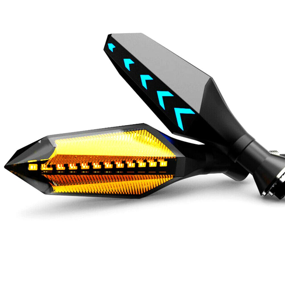 lymty Clignotans Lot de 2 Clignotants LED universels pour Moto Ambre Black