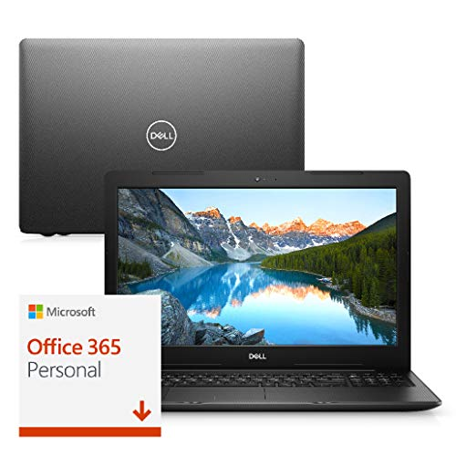 "Notebook Dell Inspiron i15-3584-MS50PF 8ª geração Intel Core i3 4GB 256GB SSD 15.6"" Windows 10 Microsoft 365 Preto"