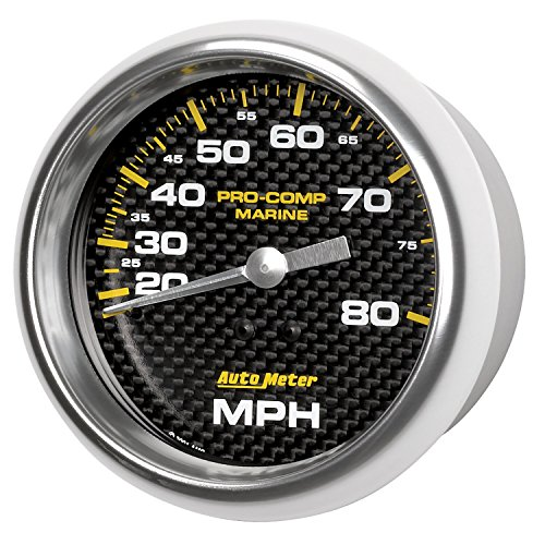 Water Mechanical Carbon Fiber (AutoMeter Auto Meter 200753-40 Gauge, Speedometer, 3 3/8