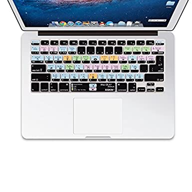meidakai XSKN OS X Accesos directos Cubierta de Teclado Piel para 13 ...